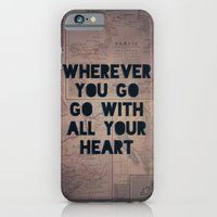 iPhone & iPod Case featuring Go With All Your Heart by Leah Flores
