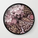 Hortensia autumn Wall Clock