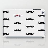 Union Jack Mustache iPad Case