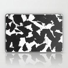 Black Bird Wings on White Laptop & iPad Skin