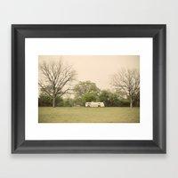 lost in the trees::austin Framed Art Print