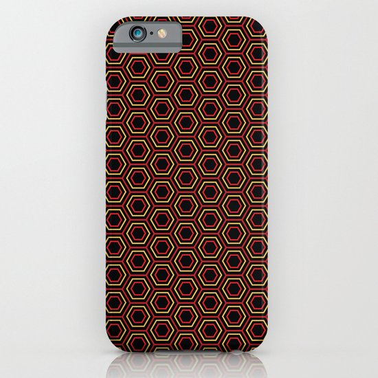 Hexagon Pattern in Red iPhone & iPod Case
