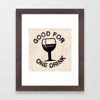 Wooden Nickel: Good For One Drink Framed Art Print