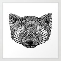 The Red Panda Project BW Art Print
