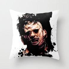 Leatherface: Monster Mad… Throw Pillow
