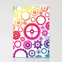 Color Cogs. Stationery Cards