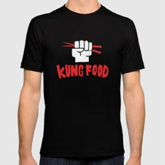 KUNG FOOD Mens Fitted Tee Black SMALL
