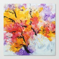 Abstraction on a tree Canvas Print