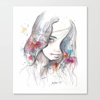 Spring 2015, watercolor Canvas Print