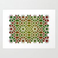 Red & Green Art Print