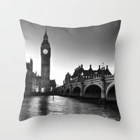 Westminster London Throw Pillow