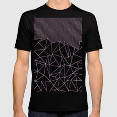 Ab Lines 45 Pink SMALL Mens Fitted Tee Black