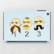 The Three Mustaches iPad Case