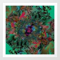 Butterfly Dreams Fractal art Art Print