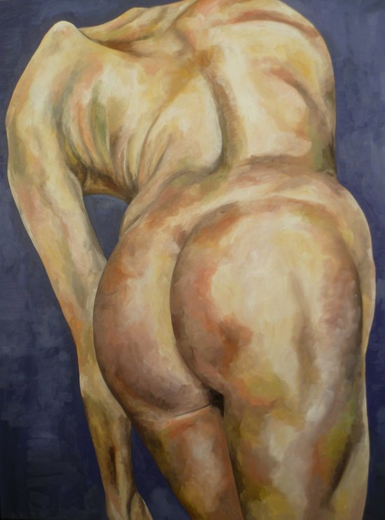 Nude From Behind Art Print
