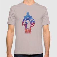 Captain America Mens Fitted Tee Cinder SMALL