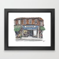 Hassan, Burnt Oak Framed Art Print