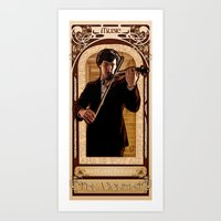 Art Nouveau: The Violinist Art Print