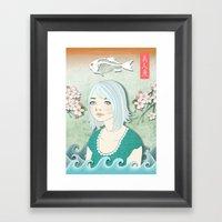 Beautiful Human Fish Framed Art Print