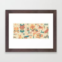 Animals' Circus Framed Art Print