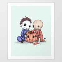 Halloween Helper Art Print