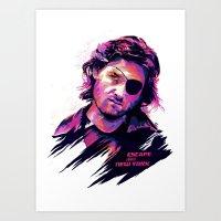 Kurt Russell: BAD ACTORS Art Print