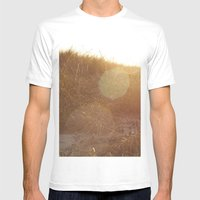 Montauk Sand Dune Sunflare Mens Fitted Tee White SMALL