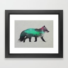 Fox In The Aurora Boreal… Framed Art Print