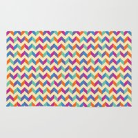 Area & Throw Rug featuring Coloured Chevron by Stefan Trudeau