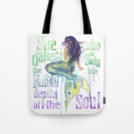 Mermaid : Profound Depth… Tote Bag