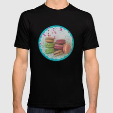 Colorful Macarons Mens Fitted Tee Black SMALL