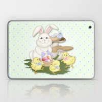 White Rabbit And Easter … Laptop & iPad Skin