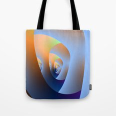 Labyrinth in Orange and Blue Tote Bag