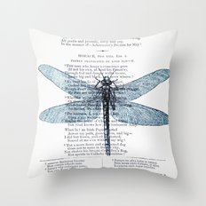 Dragonfly Poet Throw Pillow