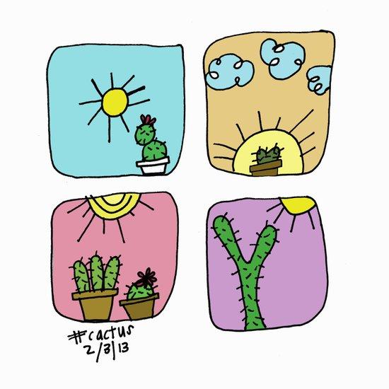 Colorful Cactus!  Canvas Print
