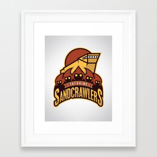 Tatooine SandCrawlers Framed Art Print