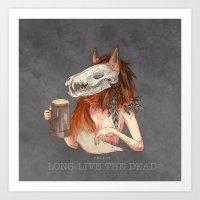 Long Live The Dead - Fox Art Print