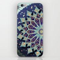 Mosaic Mandala In Blue iPhone & iPod Skin