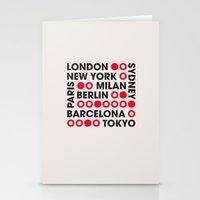 I Love This City Typogra… Stationery Cards