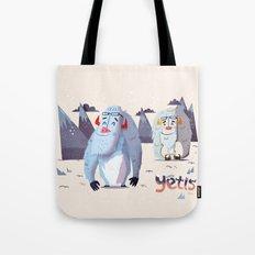 :::Happy Yetis::: Tote Bag