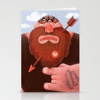 Biker In Love Stationery Cards