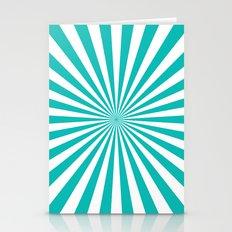 Starburst (Tiffany Blue/White) Stationery Cards