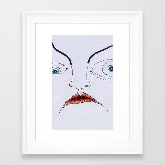 facer Framed Art Print