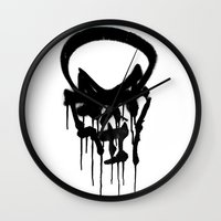 Graffiti Skull Wall Clock