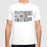 colour tv Mens Fitted Tee White SMALL