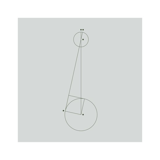 #395 Measuring the distance – Geometry Daily Art Print