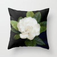 Gardenia in the garden - free shipping Throw Pillow