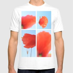 Poppies Mens Fitted Tee White SMALL