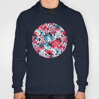 Happy Red Flower Collage Hoody