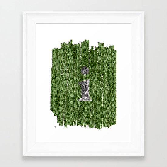 Winter clothes II. Letter i. Framed Art Print